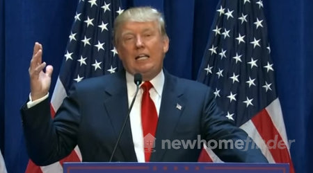 Trump speaking at press conference to reporters