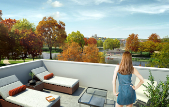 Rooftop terrace view