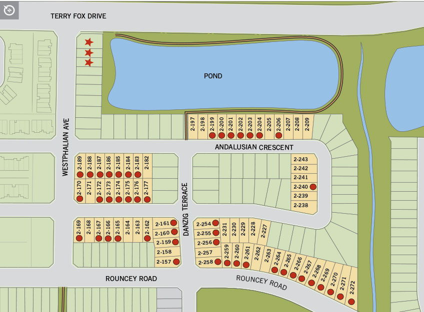 Site plan for Blackstone in Kanata, Ontario