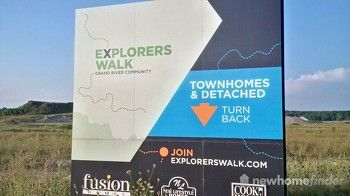 Fusion Homes Explorers Walk Signage