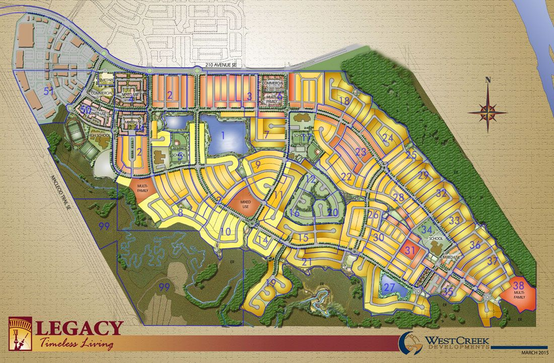 Site plan for Legacy in Calgary, Alberta
