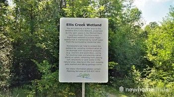 Ellis Creek Wetland Trail Sign