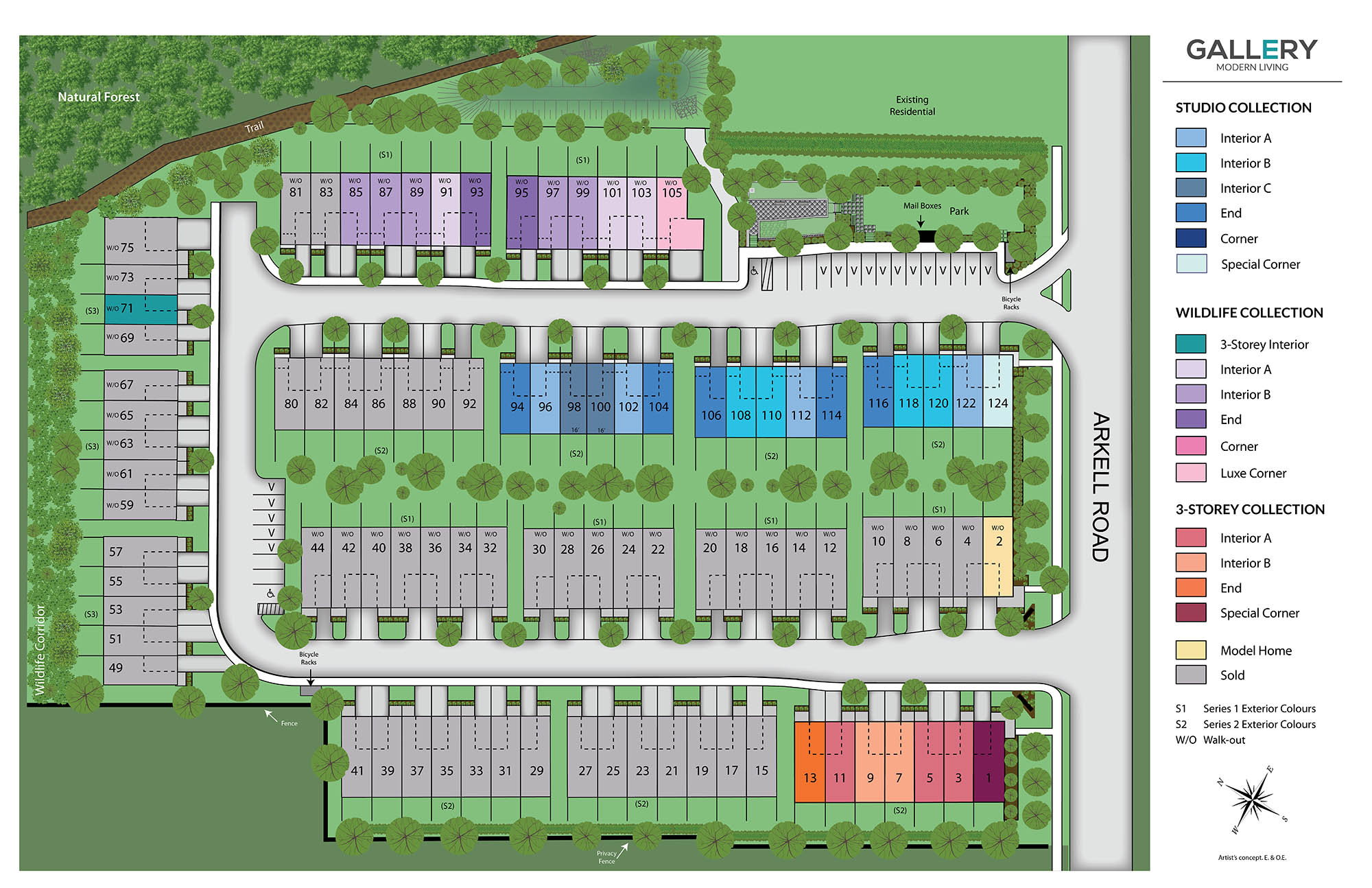 Site plan for Gallery Towns in Guelph, Ontario