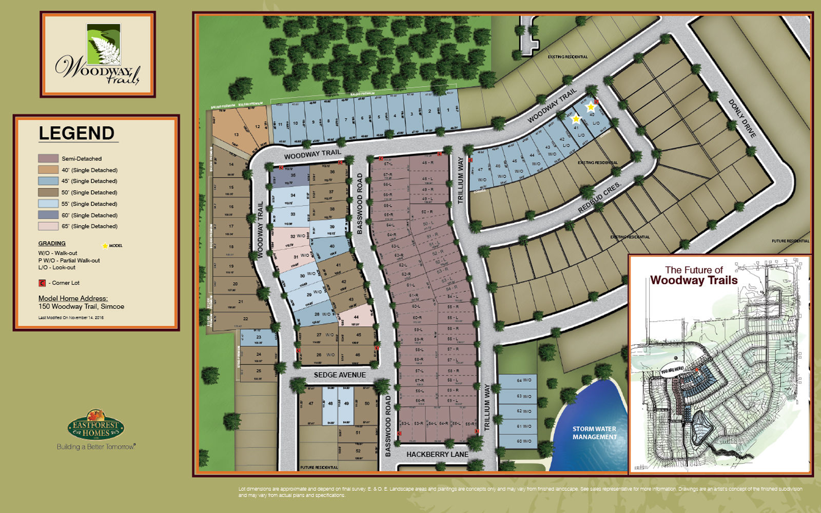 Site plan for Woodway Trails in Simcoe, Ontario