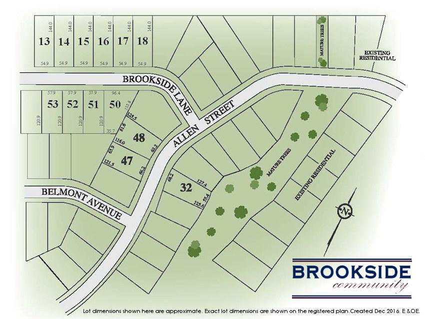 Site plan for Brookside Community in Tilsonburg, Ontario