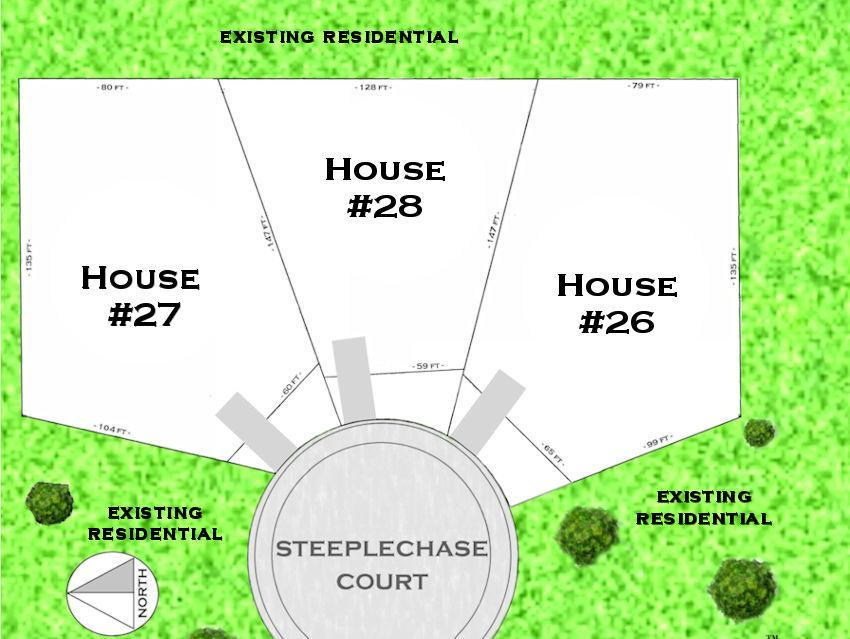 Site plan for Steeplechase Court in St. Thomas, Ontario
