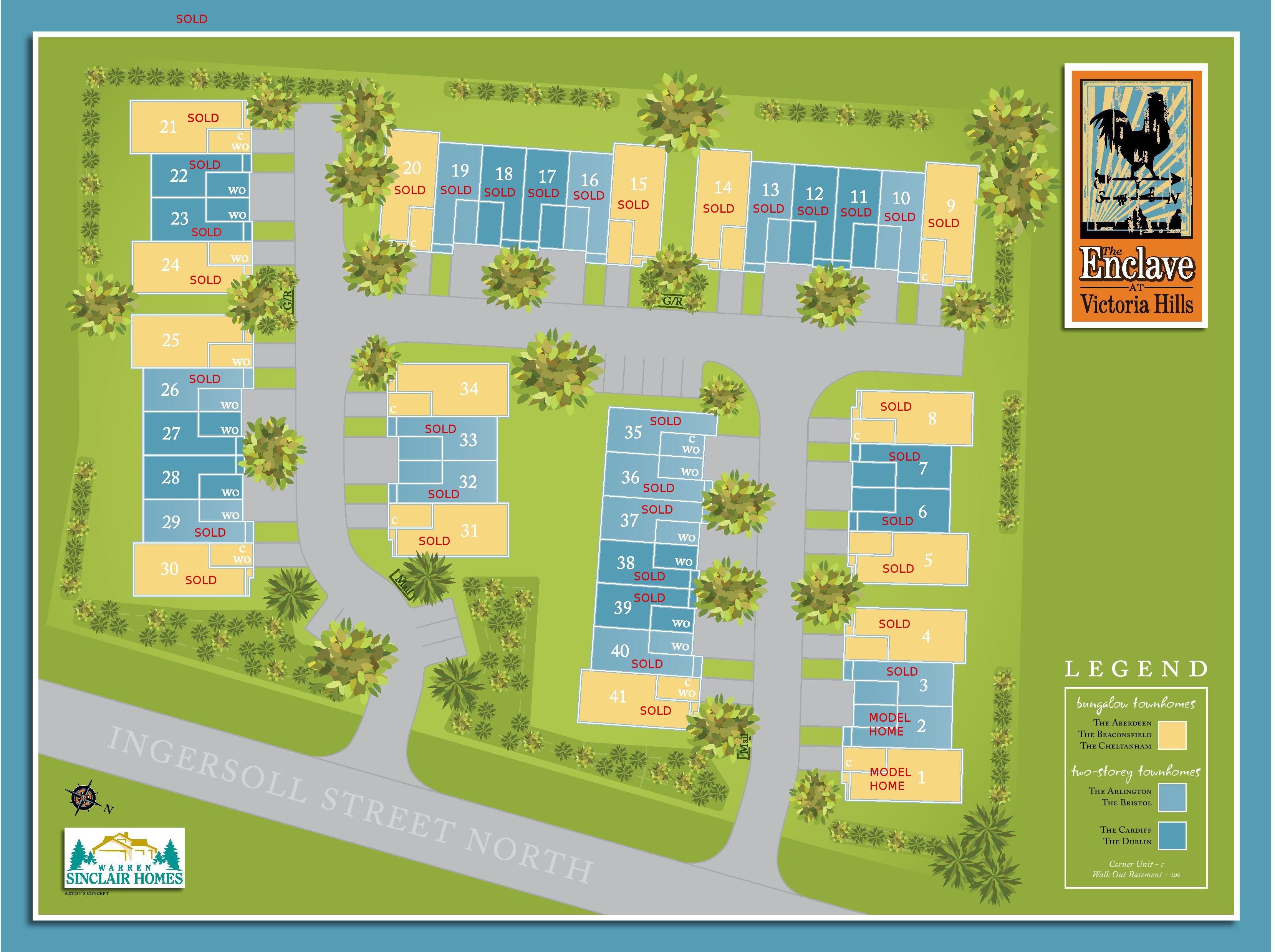 Site plan for The Enclaves at Victoria Hills in Ingersoll, Ontario