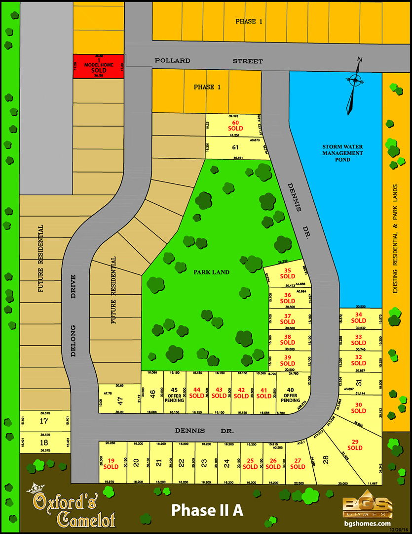 Site plan for Oxford's Camelot in Norwich, Ontario