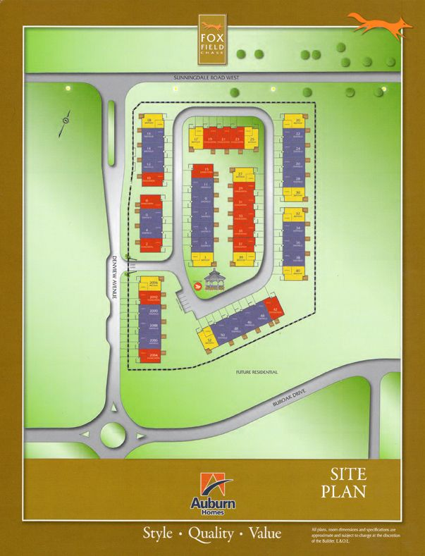 Site plan for Foxfield Chase in London, Ontario