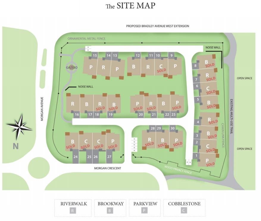 Site plan for Westwood Village Condominiums in London, Ontario