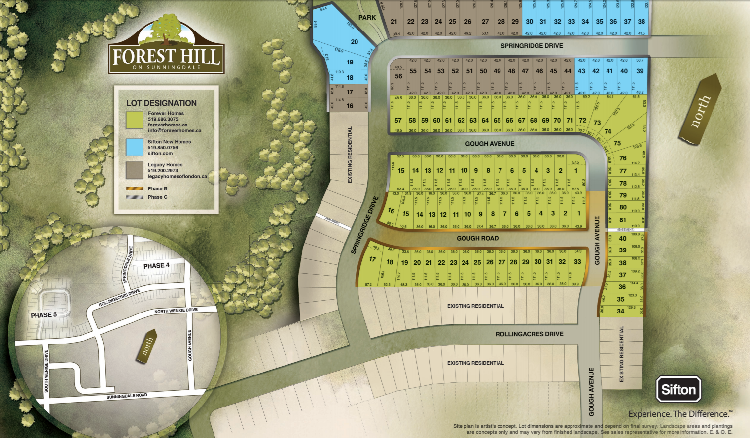 Site plan for Forest Hill in London, Ontario