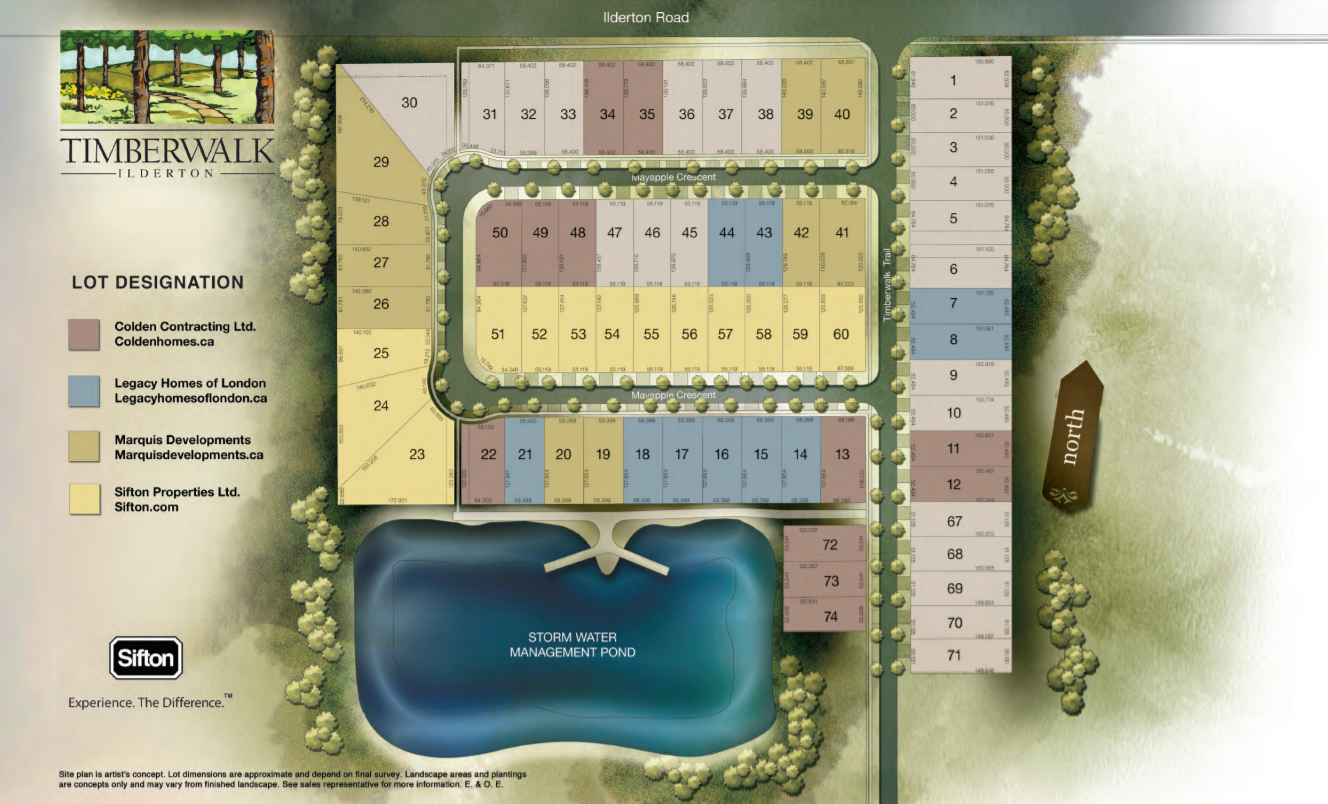 Site plan for Timberwalk in Ilderton, Ontario