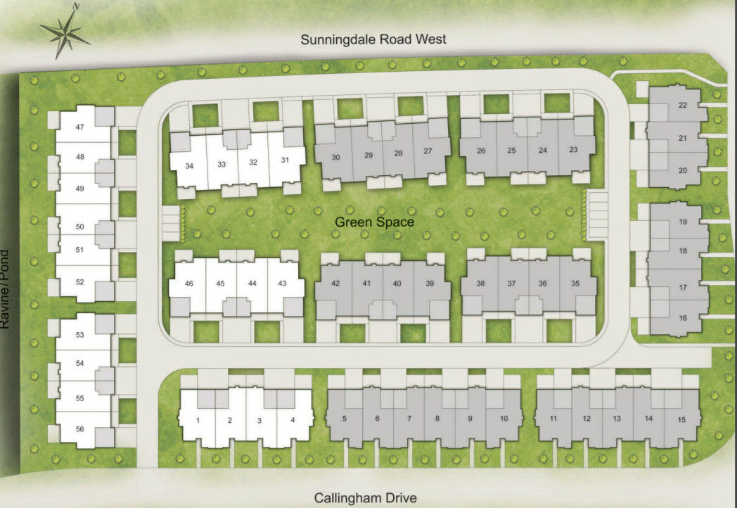 Site plan for Meadows of Sunningdale in London, Ontario