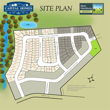 Site plan for New Hamburg Heights in New Hamburg, Ontario