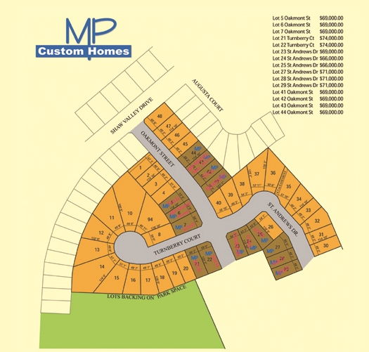 Site plan for Shaw Valley (MP) in St. Thomas, Ontario