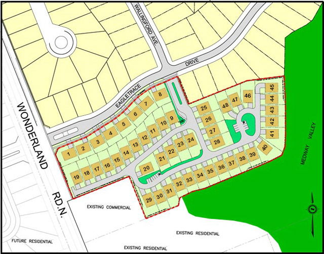 Site plan for The Sanctuary at Sunningdale West in London, Ontario