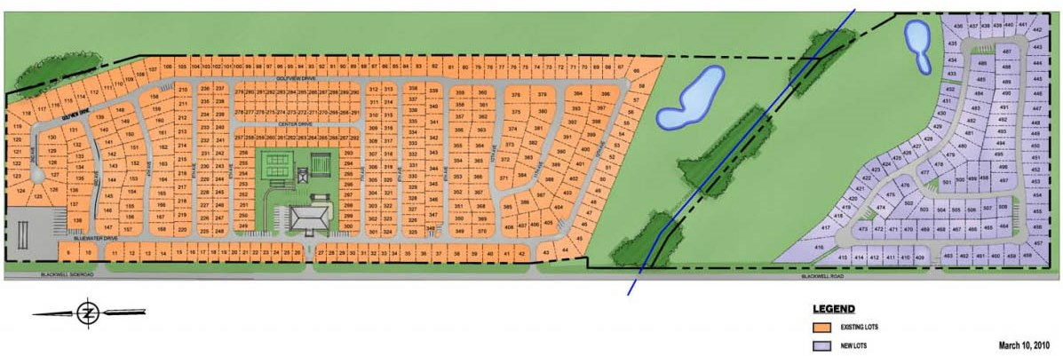 Site plan for Bluewater Country in Sarnia, Ontario