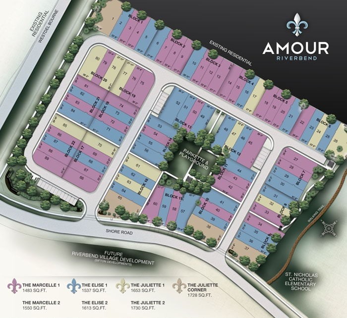 Site plan for Amour Riverbend in London, Ontario