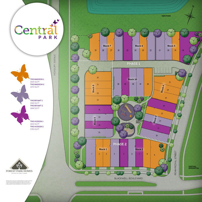 Site plan for Central Park in London, Ontario