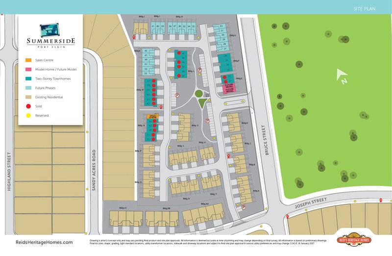 Site plan for Summerside in Port Elgin, Ontario