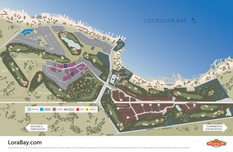 Site plan for Lora Bay in Thornbury, Ontario