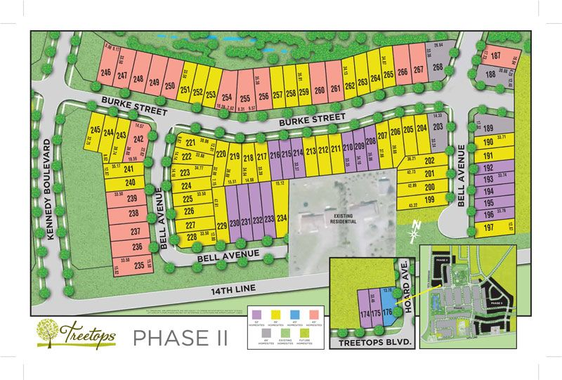 Site plan for Treetops in Alliston, Ontario