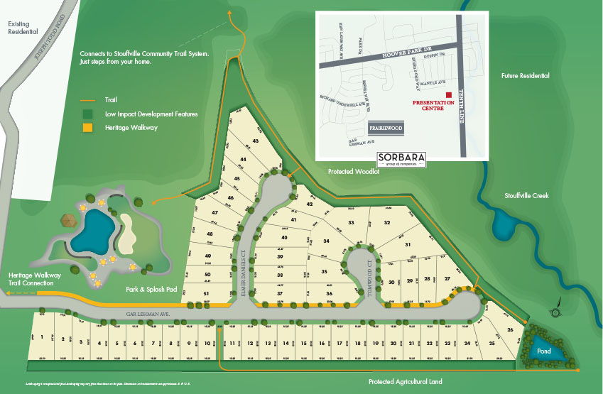 Site plan for Prariewood in Witchurch-Stouffville, Ontario