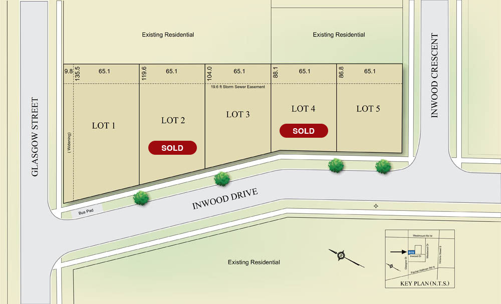 Site plan for Inwood Drive in Kitchener, Ontario