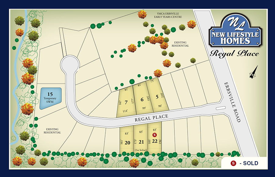 Site plan for Regal Place in Waterloo, Ontario