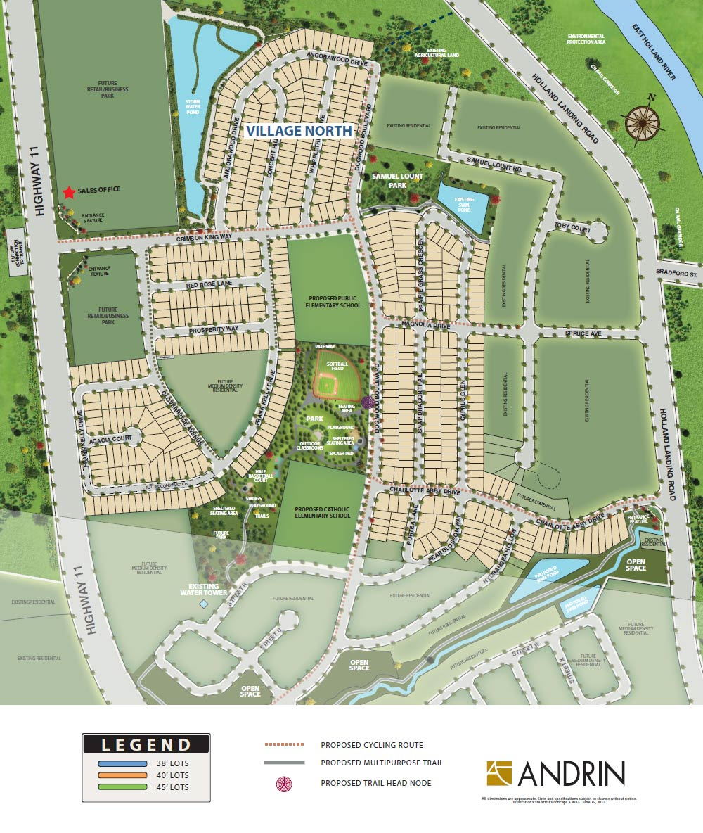Site plan for Hillsborough in  East Gwillimbury, Ontario
