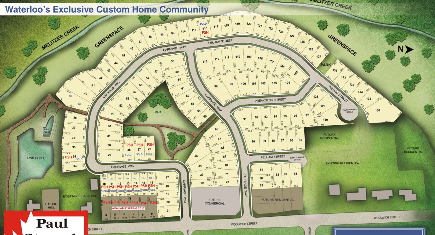 Site plan for Woolwich Estates in Waterloo, Ontario