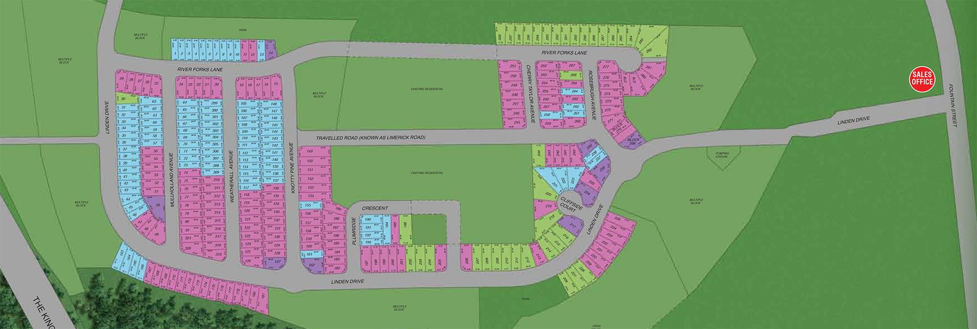Site plan for Grand River Woods in Cambridge, Ontario