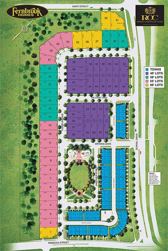 Site plan for Royal Oakville Club in Oakville, Ontario