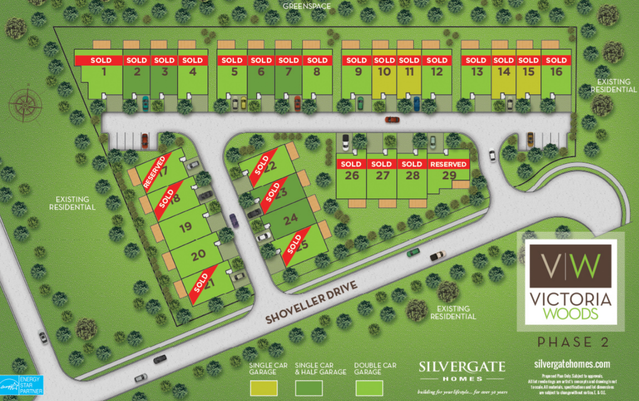 Site plan for Victoria Woods in Niagara Falls, Ontario
