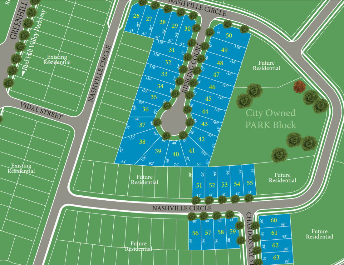 Site plan for Vienna Orchards in Hamilton, Ontario