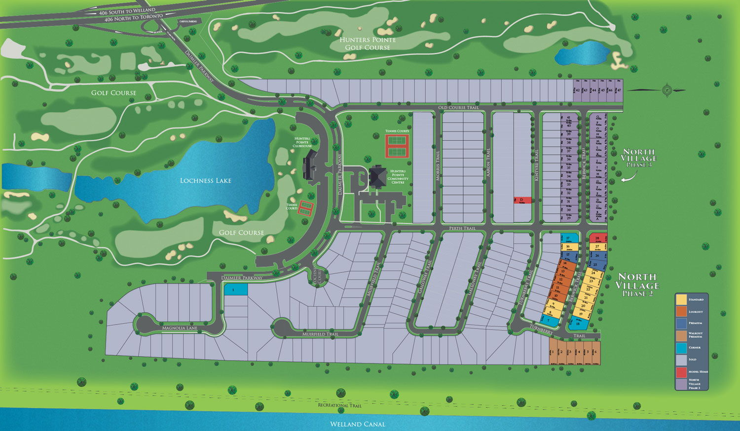 Site plan for Hunters Pointe in Welland, Ontario