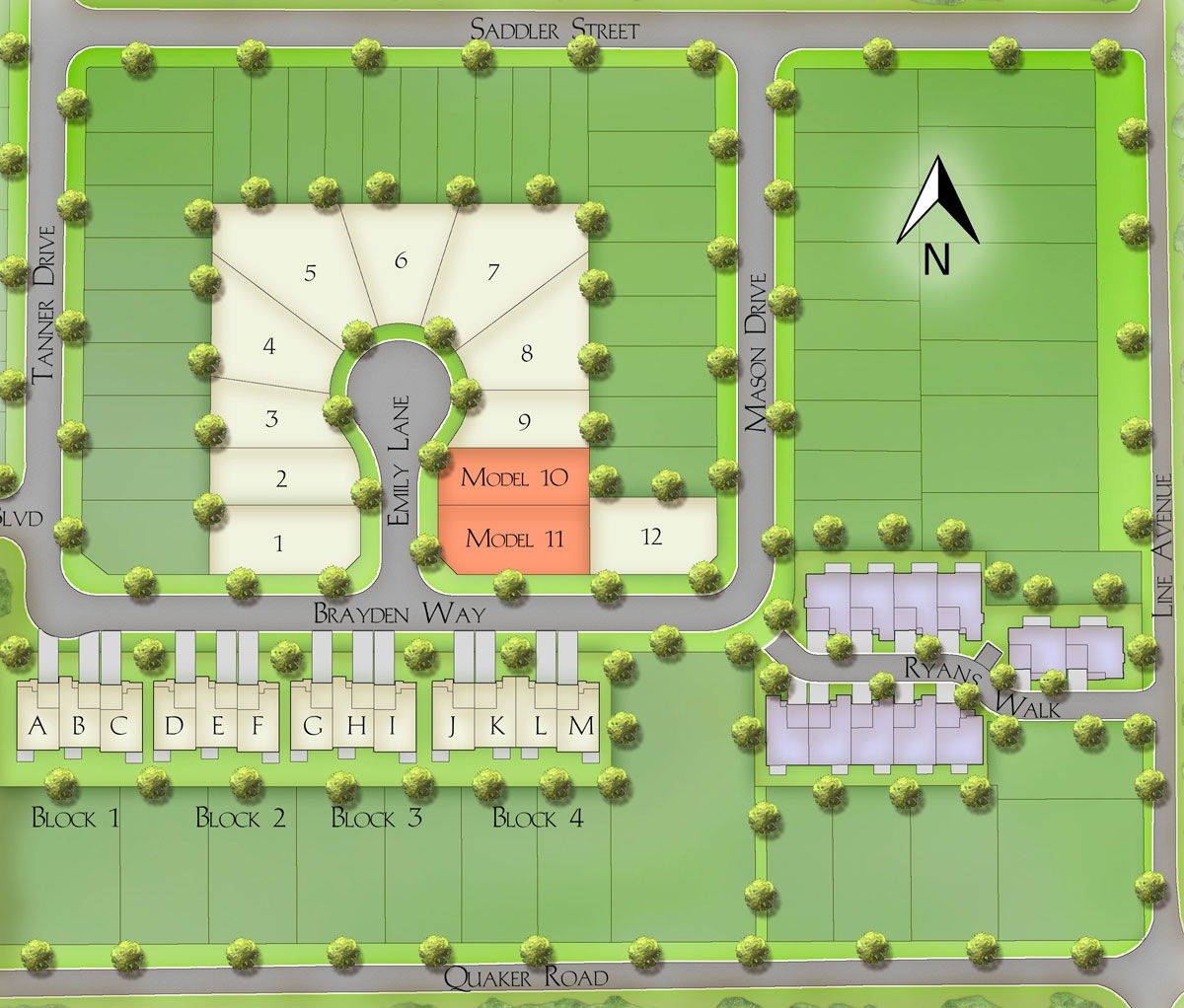Site plan for Ryan's Grove in Pelham, Ontario
