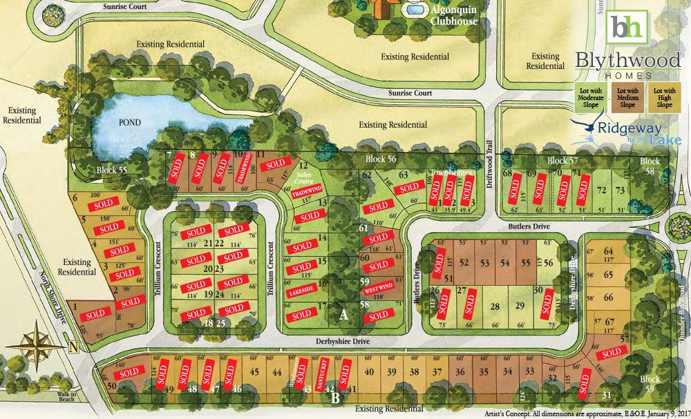 Site plan for Ridgeway by the Lake in Crystal Beach, Ontario