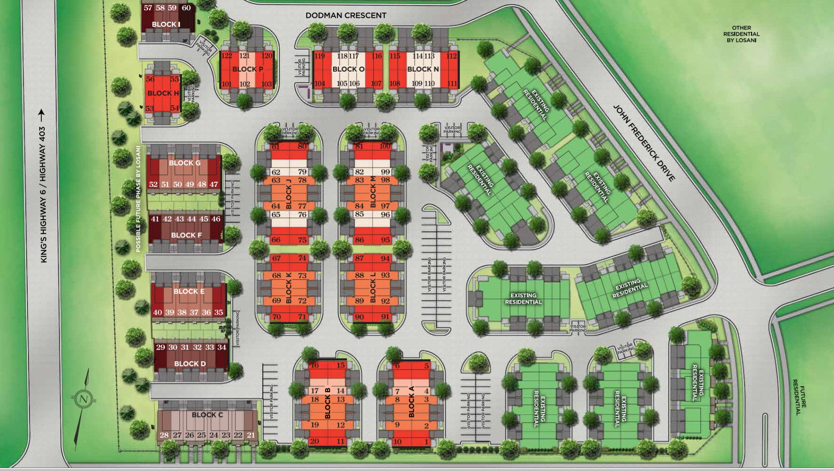 Site plan for Astoria Grand in Ancaster, Ontario