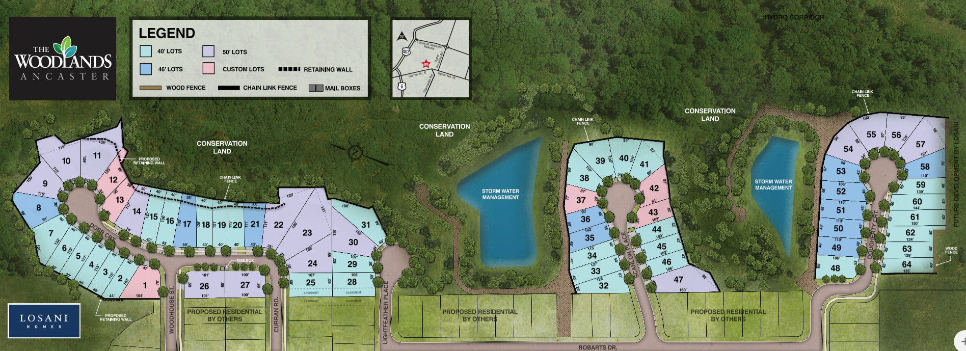 Site plan for The Woodlands in Ancaster, Ontario