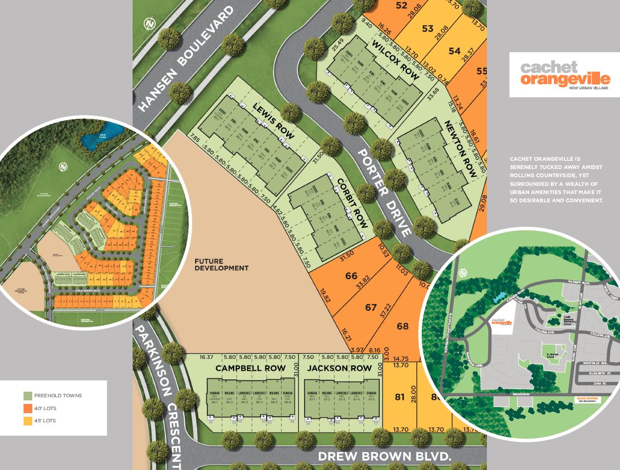 Site plan for Cachet Orangeville in Orangeville, Ontario