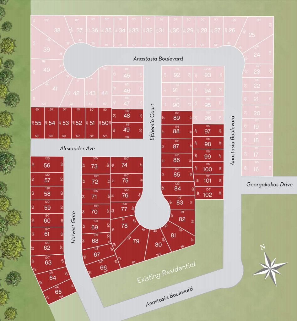 Site plan for Auburn Trail in Smithville, Ontario