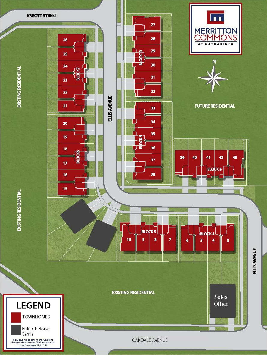 Site plan for Merritton Commons in St. Catharines, Ontario