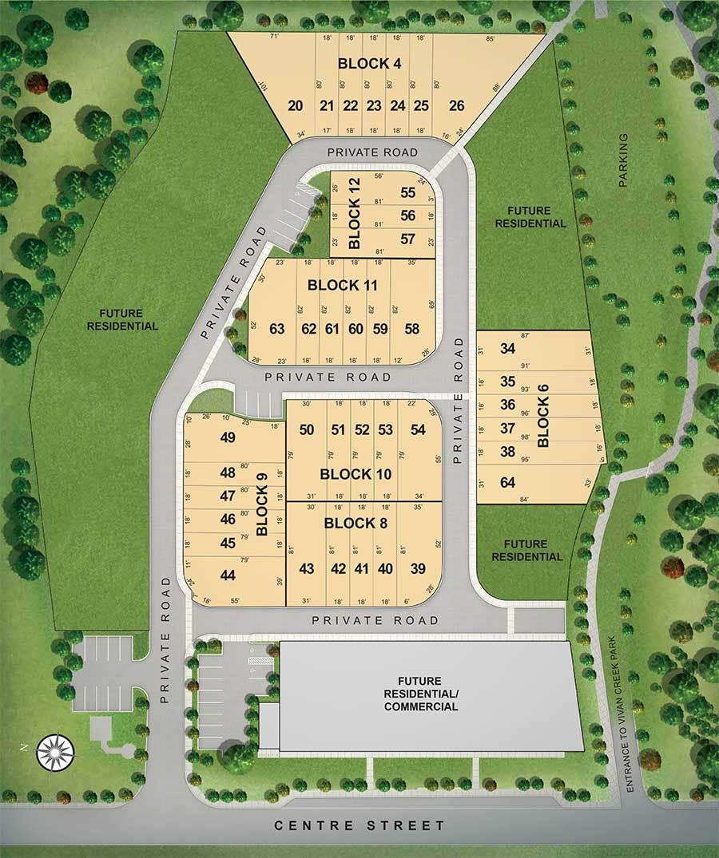 Site plan for Village Green in Mount Albert, Ontario