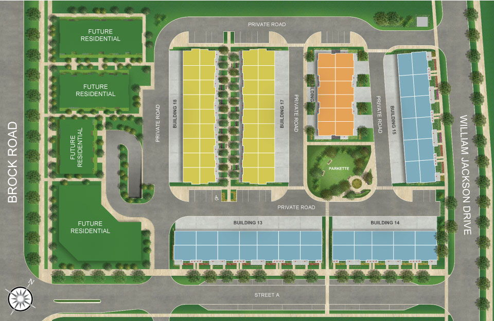 Site plan for Main Street Seaton in Pickering, Ontario