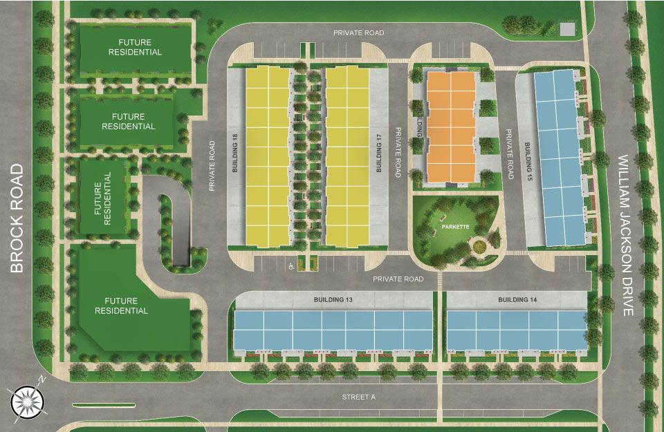 Site plan for Main Street Seaton in Pickering, Ontario