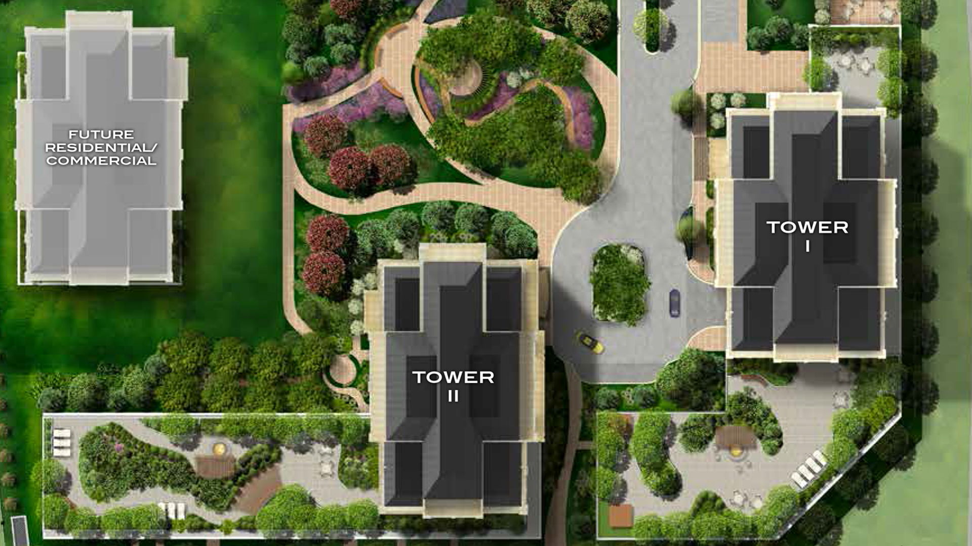 Site plan for Park Avenue Place in Vaughan, Ontario