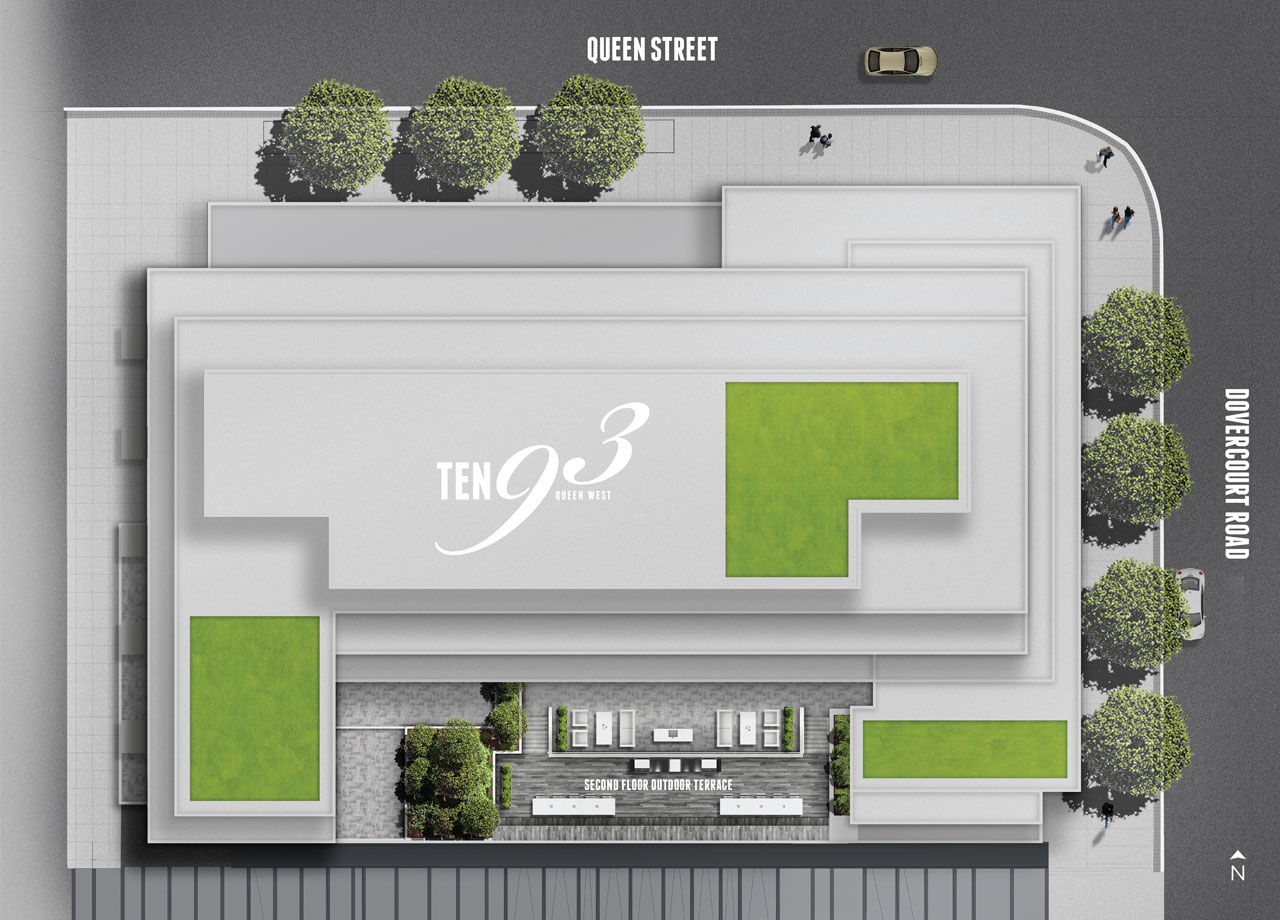 Site plan for Ten93 in Toronto, Ontario