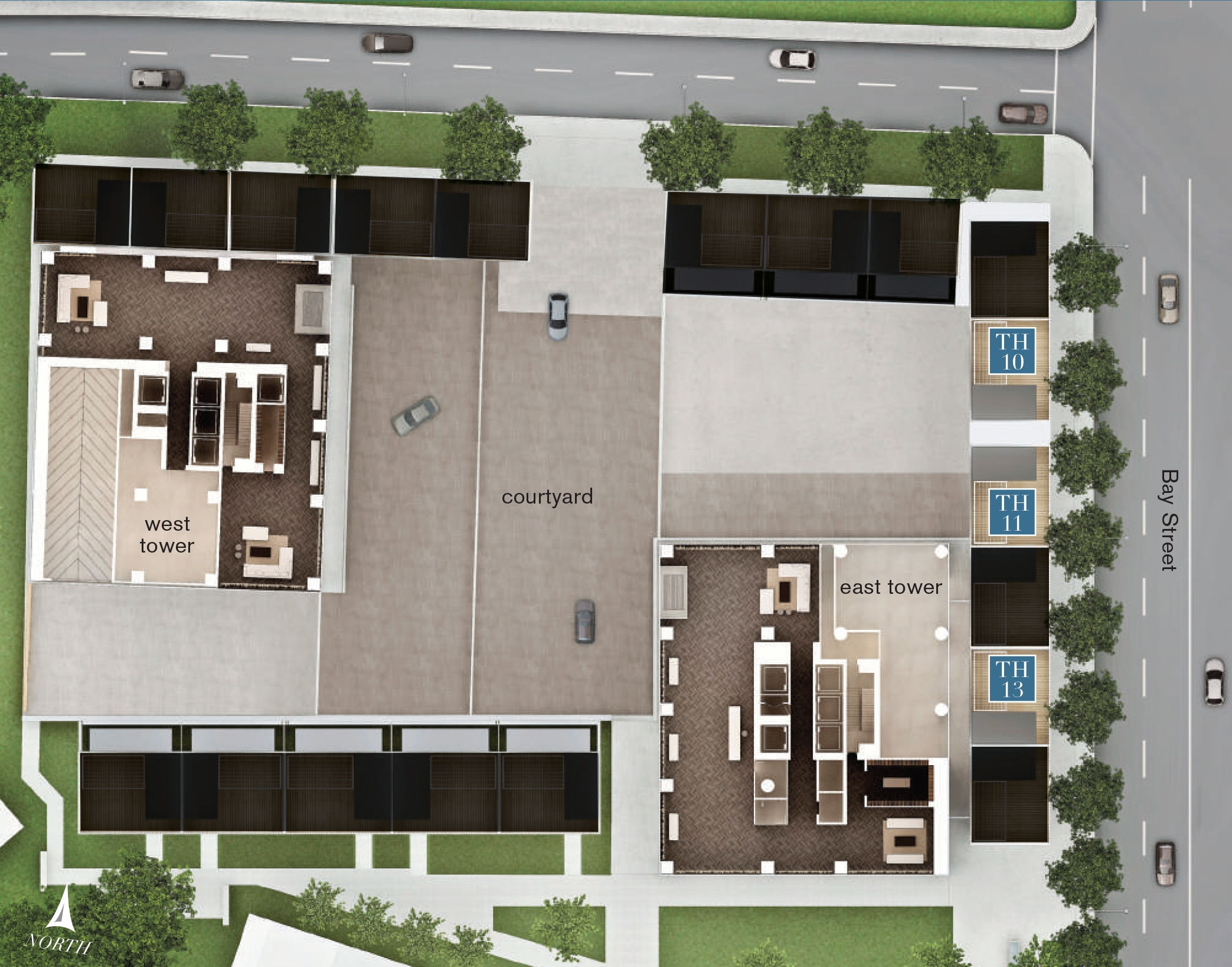 Site plan for The Urban Townhome Collection in Toronto, Ontario