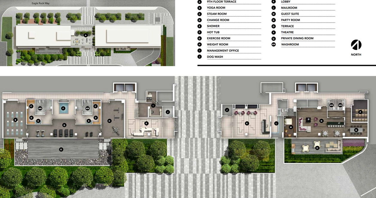 Site plan for Indigo Condominiums in Vaughan, Ontario